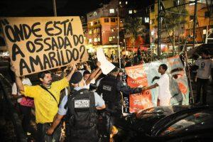 Manifestação na favela da Rocinha lembra dois anos da morte do pedreiro Amarildo, Foto: Fernando Frazão/ Agência Brasil (22/07/2015)