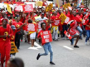Union members take part in a May Day Rally organised by the newly-formed South African Federation of Trade Unions (SAFTU) in Durban, South Africa. REUTERS/Rogan Ward