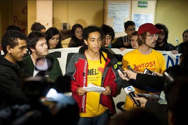 Coletiva de imprensa do bloco de lutas