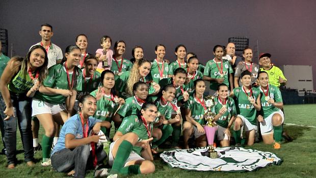 Iranduba é o atual pentacampeão amazonense de futebol feminino. Foto: Reprodução/Amazon Sat