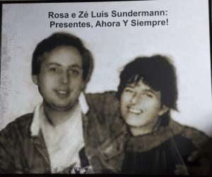 No quadro, Zé Luis e Rosa Sundermann