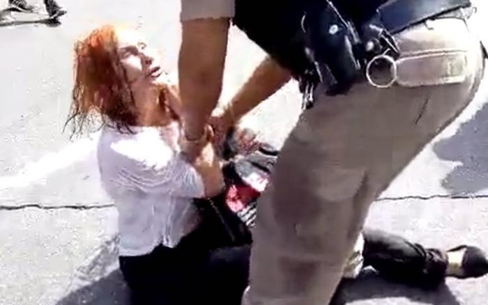 Conceição, diretora do Sindrede, foi presa na manifestação