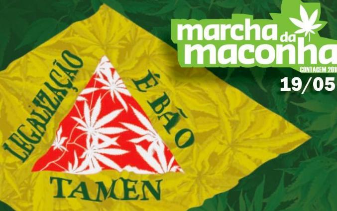 Cartaz da marcha. Arte Fábio Coelho