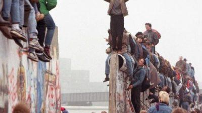 Queda do Muro de Berlim, em novembro de 1989