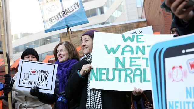Protesto exige a neutralidade da rede