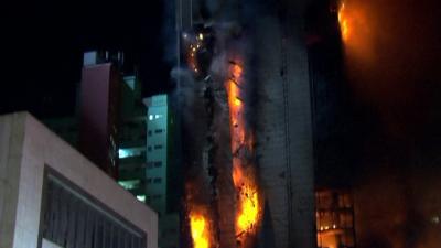 Incendio em Sao Paulo. Reproducao vídeo