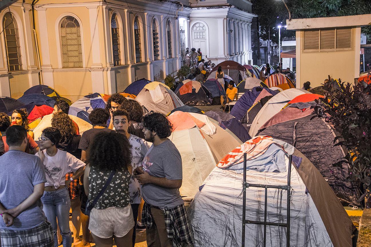 Acampamento de jovens em Niterói (RJ)