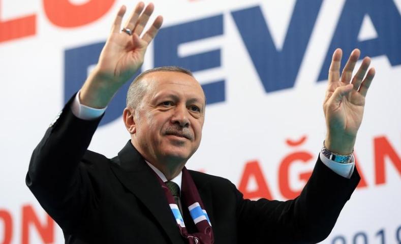 Erdogan é reeleito. Foto divulgação Presidência Turquia.