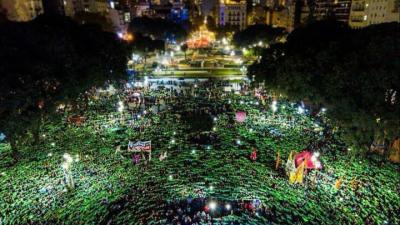 Manifestação em Buenos Aires, no dia 04 de junho. Foto Prensa Obrera