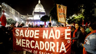 Protesto contra o governo Temer no Rio de Janeiro. Fernando Frazão/ Agência Brasil