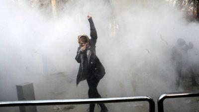 Manifestação em Teerã, em dezembro de 2017. Foto: DR.