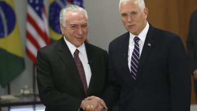 Temer e Mike Pence. Foto: José Cruz/Agência Brasil