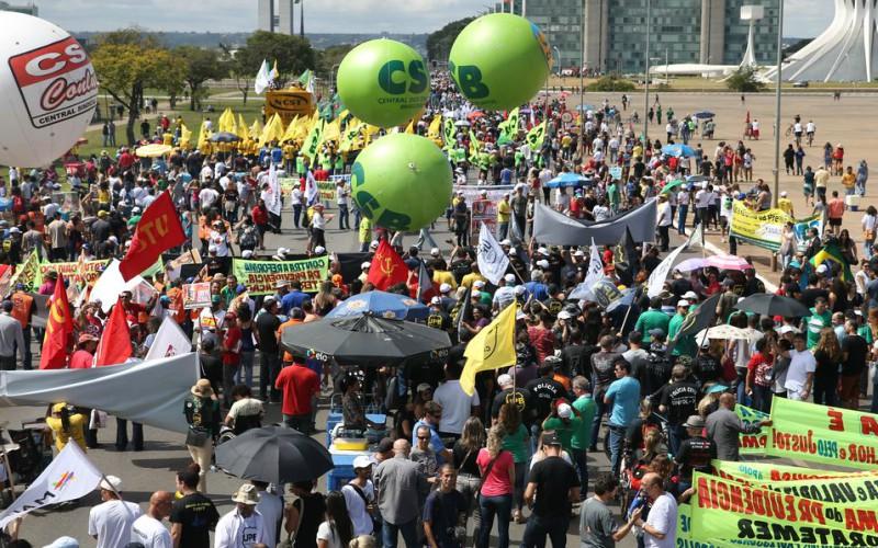 Manifestação em Brasília, em 2017. foto José Cruz/Ag. Brasil