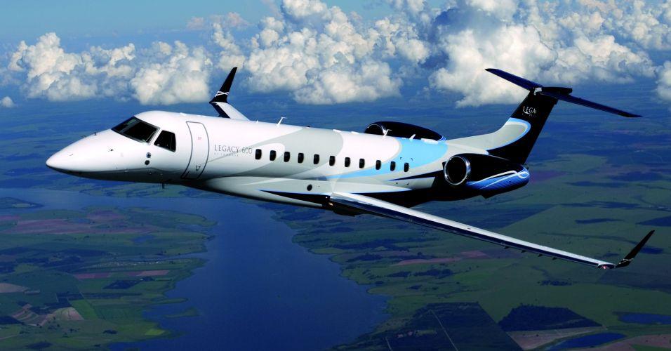Jato Legacy 600. Foto divulgação/Embraer.