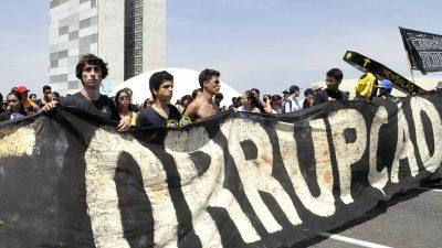 Protesto em Brasília. Foto Antonio Cruz / Agencia Brasil