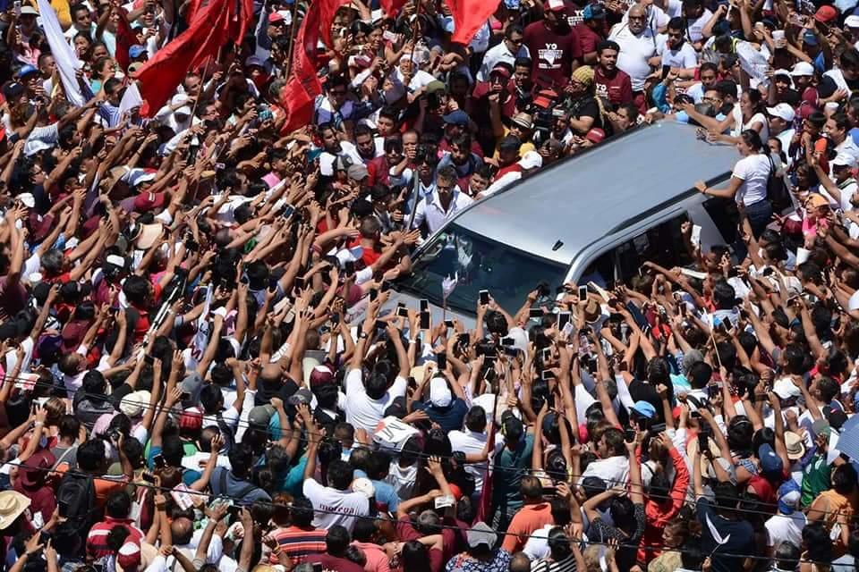 Encerramento da campanha de Obrador, em Acapulco. Foto divulgação Morena