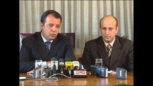 O então governador Sergio Cabral e seu secretário de Saúde, Sérgio Cortes.