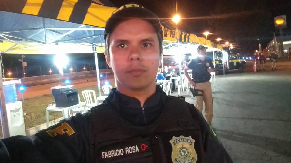 Fabrício é policial há 19 anos.
