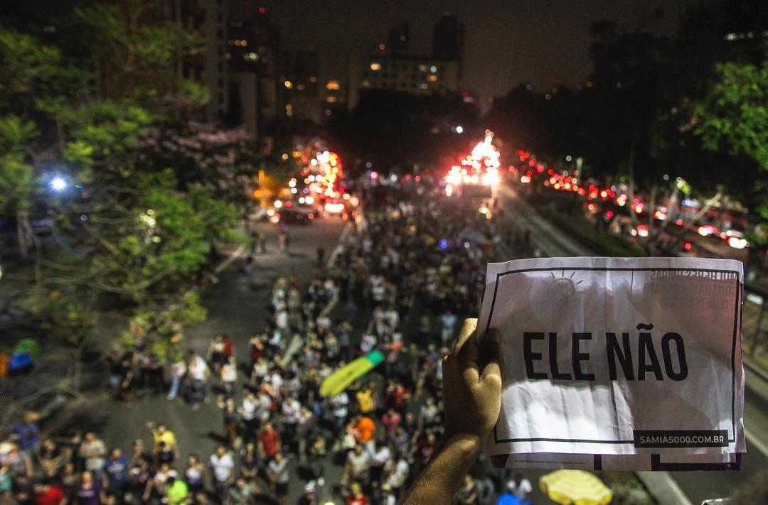 Manifestação do ELE Não em São Paulo. Cobertura colaborativa Esquerda Online