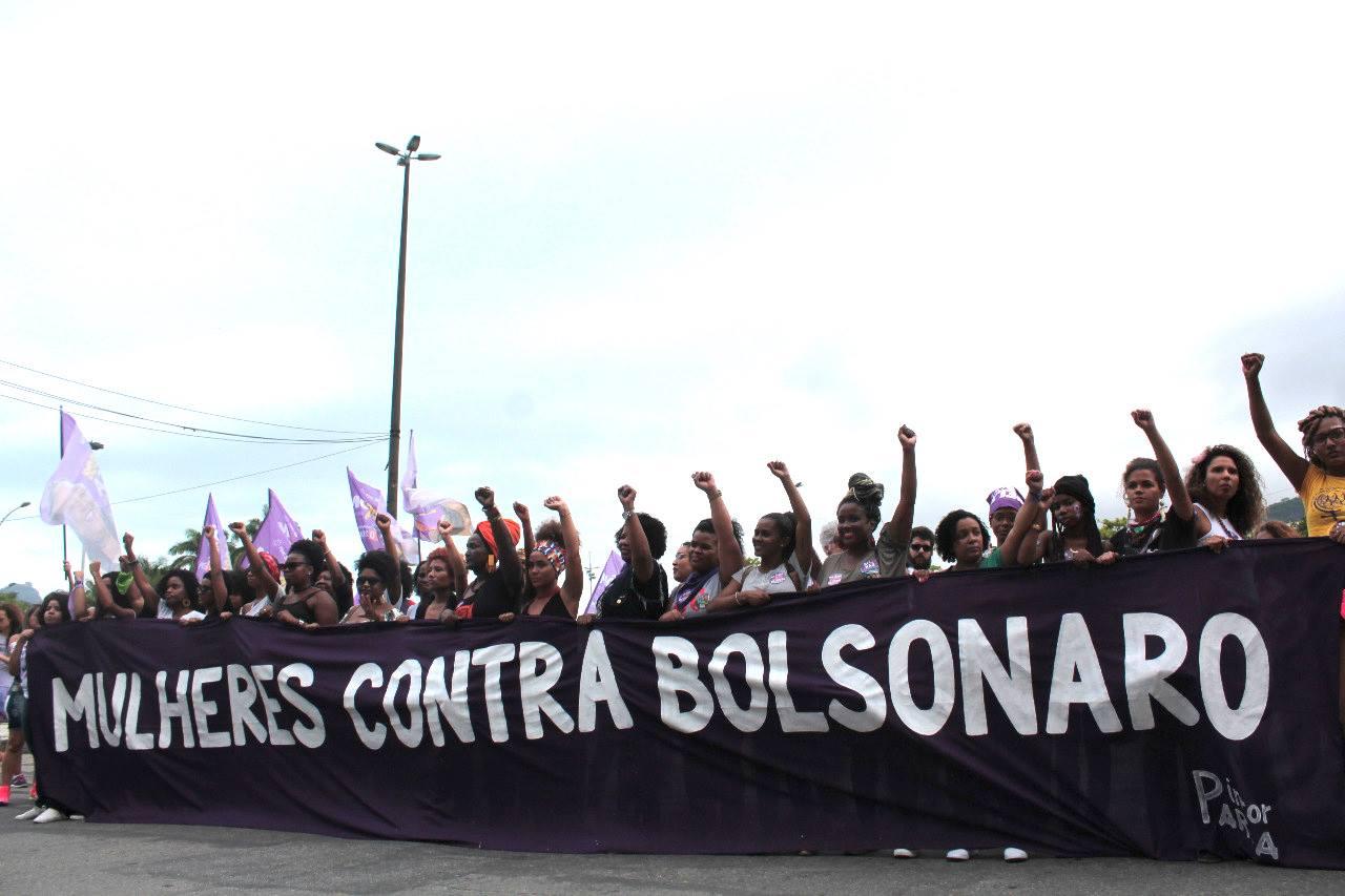 Mulheres contra Bolsonaro. Ato no Rio de Janeiro. Cobertura colaborativa Esquerda Online