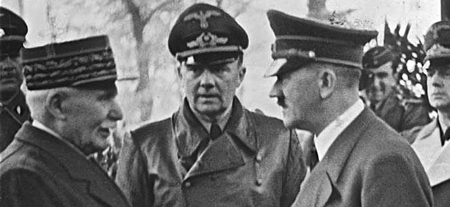 Marechal Petain com Adolf Hitler