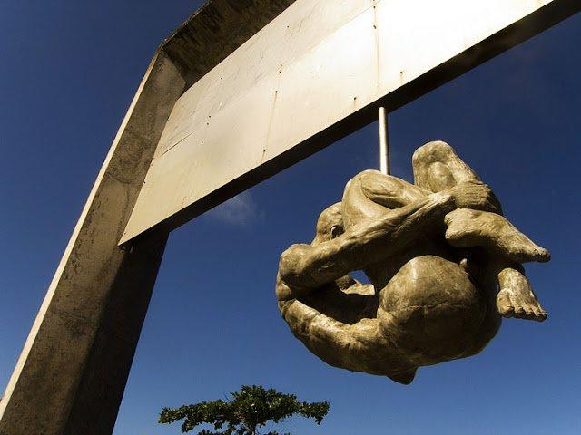 Monumento 'Tortura Nunca Mais', do arquiteto piauiense Demetrios Albuquerque.