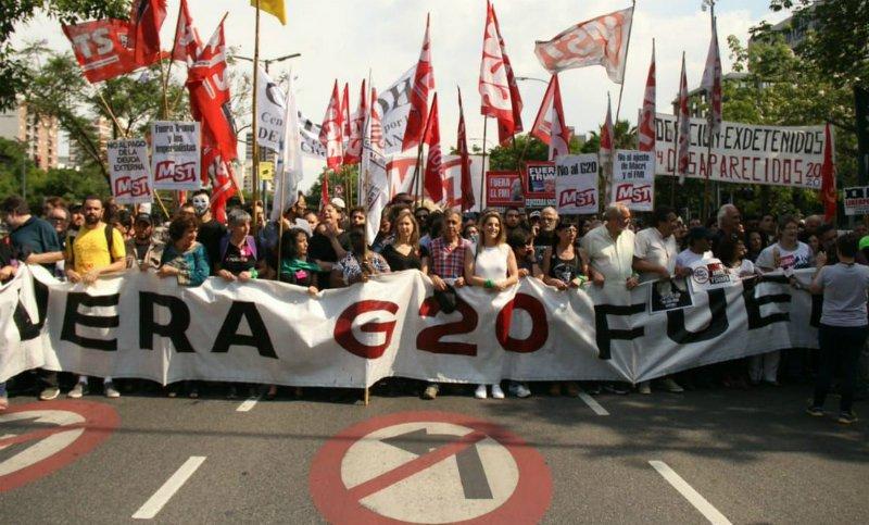 Marcha unificada contra o G20