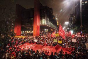 MTST em ato em São Paulo, após a eleição de Jair Bolsonaro