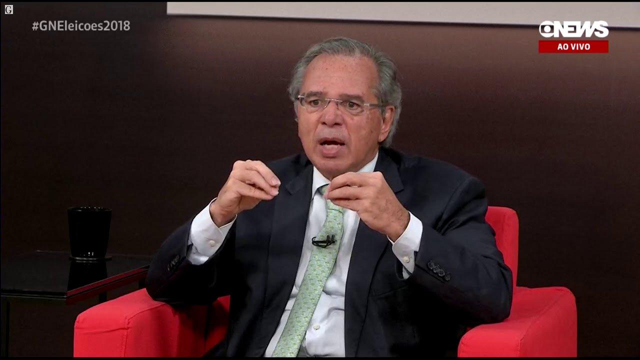 Paulo Guedes, em entrevista na GloboNews