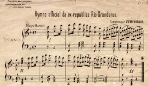 Partitura hino Rio Grandense