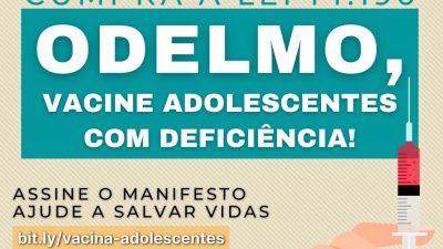 Odelmo vacine adolescentes com deficiência