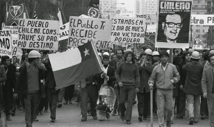 Manifestação no Chile, em 1971